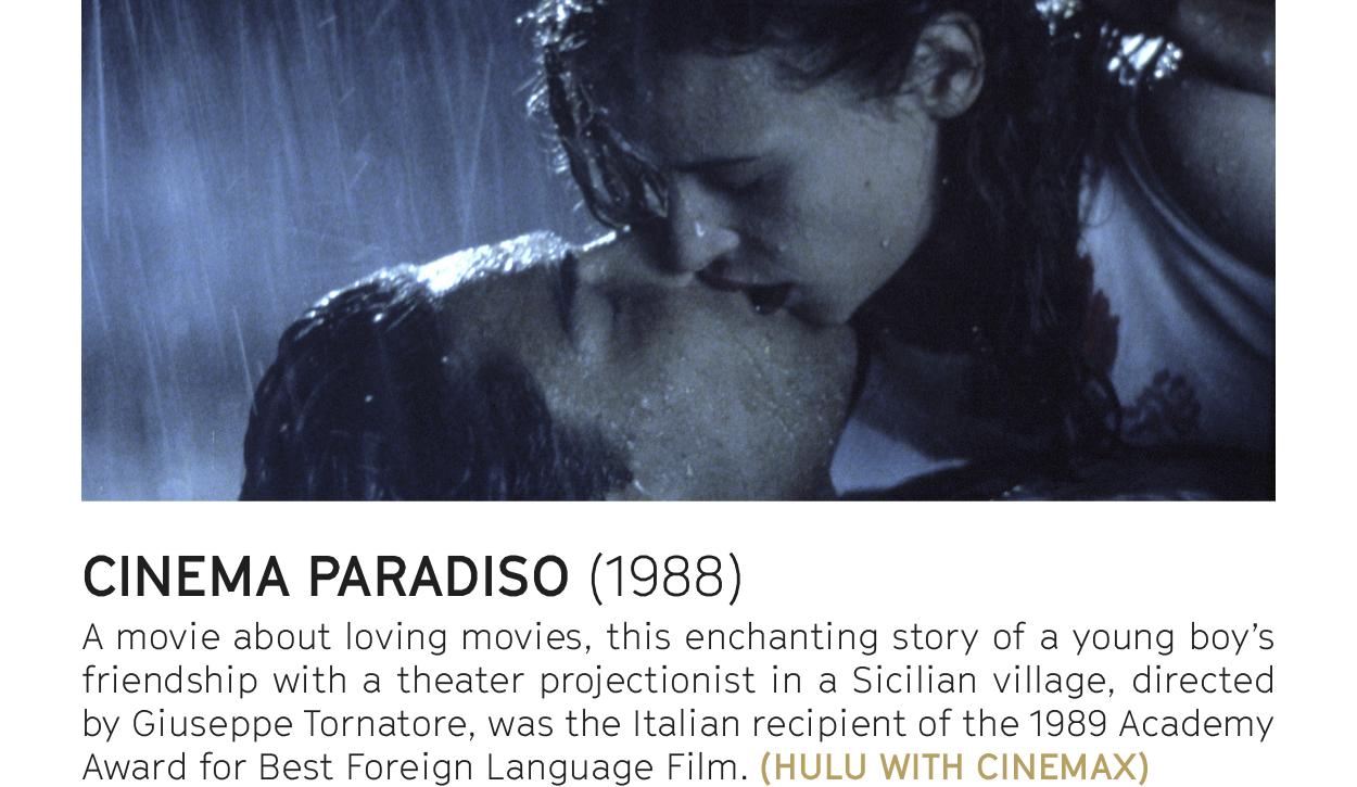 CINEMA PARADISO (1988) - STREAM ON HULU